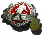 Elvis Presley Silhouette Belt Buckle + display stand. Officially Licensed. Code OJ4